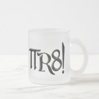 PI R8 - PIRATE SPELLED THE GEEK WAY FROSTED GLASS COFFEE MUG