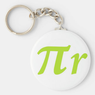 Pi R Squared or Round? Basic Round Button Keychain