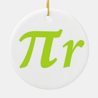 Pi R Squared or Round? Ceramic Ornament