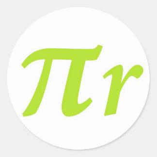 Pi R Squared or Round? Classic Round Sticker