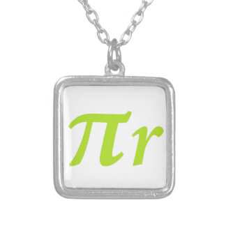 Pi R Squared or Round? Silver Plated Necklace