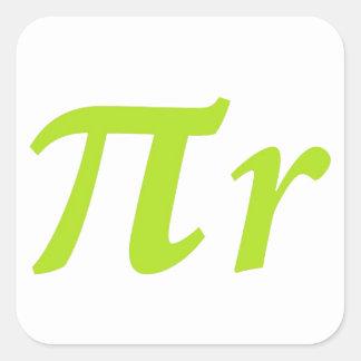 Pi R Squared or Round? Square Sticker