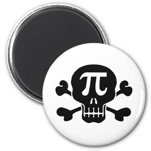Pi rate 2 inch round magnet