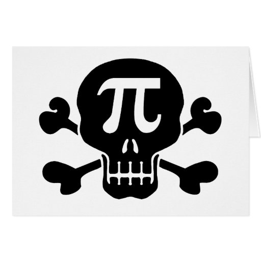Pi rate greeting cards