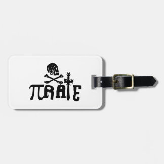 Pi - rate luggage tag