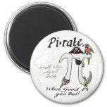 Pi•rate Pi Day Shirts and Gifts 2 Inch Round Magnet