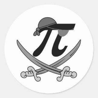 Pi - Rate pirate Classic Round Sticker