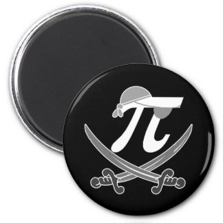Pi - Rate pirate 2 Inch Round Magnet