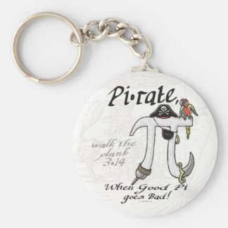 Pi rate Pirate Pi Day Shirts and Gifts Keychain