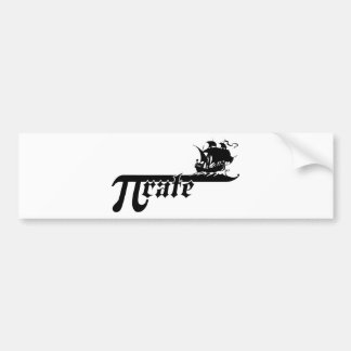Pi rate ship bumper sticker