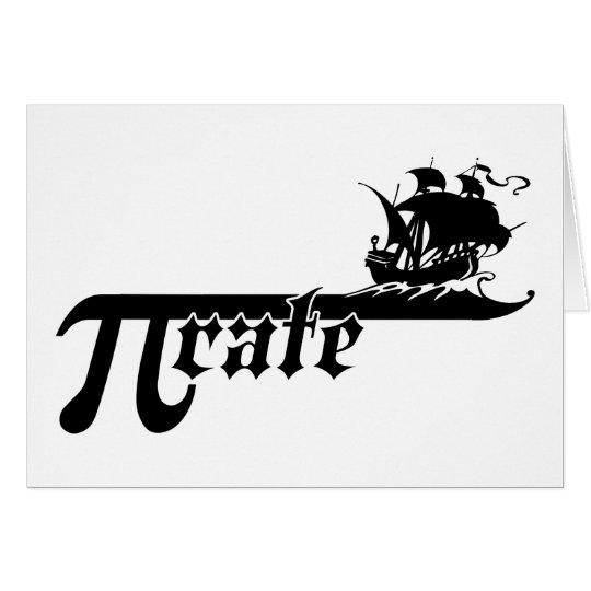 Pi rate ship card
