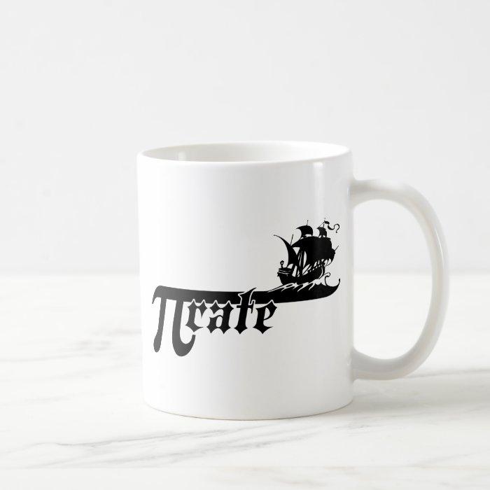 Pi rate ship coffee mug