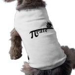 Pi rate ship doggie tshirt
