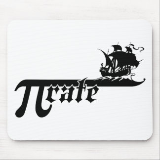 Pi rate ship mouse pad