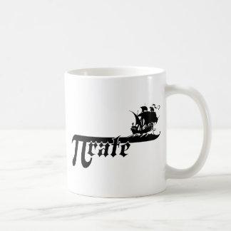 Pi rate ship classic white coffee mug