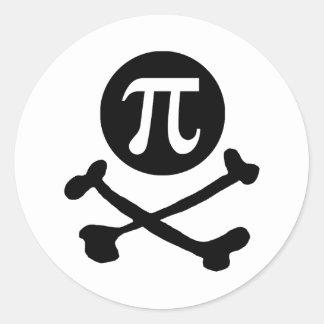 Pi-rate Classic Round Sticker