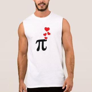 Pi red hearts sleeveless t-shirts