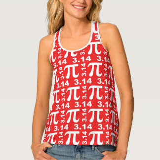 Pi - Red Tank Top