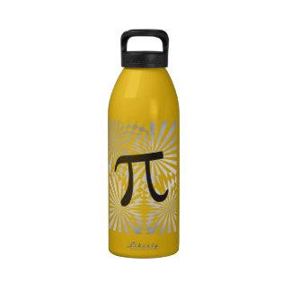 Pi retro botella de agua reutilizable