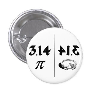 Pi Reversed Pie Mirror Pinback Button