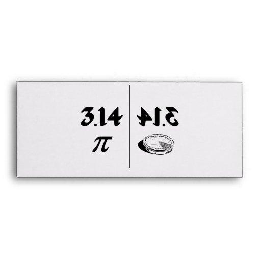 Pi Reversed Pie Mirror Envelope