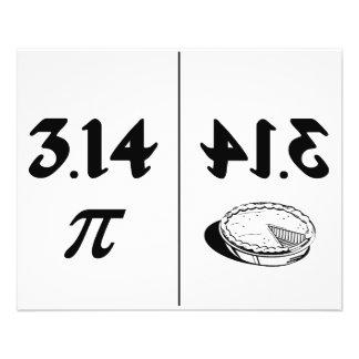 Pi Reversed Pie Mirror Flyer