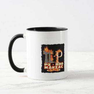 Pi - Rho MANIAC - FLAMED  GREEK LETTERS (PYRO) Mug