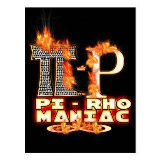 Pi - Rho MANIAC - FLAMED GREEK LETTERS PYRO Post Card
