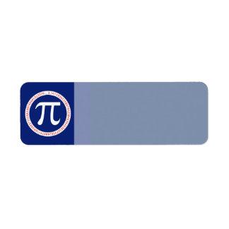 Pi Ring on Navy Blue Label