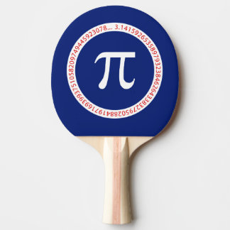 Pi Ring on Navy Blue Ping-Pong Paddle