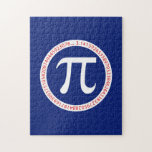 Pi Ring on Navy Blue Puzzle