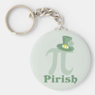 """Pi-rish"" Basic Round Button Keychain"