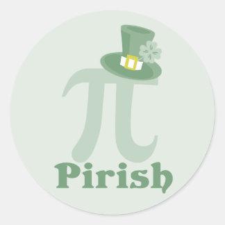 """Pi-rish"" Classic Round Sticker"