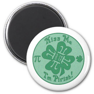 Pi-Rish Party Gear 2 Inch Round Magnet