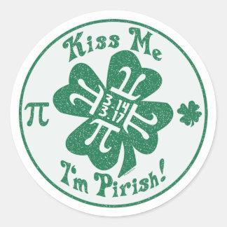 Pi-Rish Party Gear Classic Round Sticker