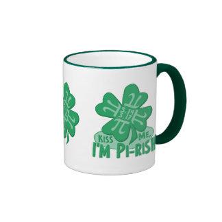 Pi-Rish Party Gear from Mudge Studios Ringer Coffee Mug