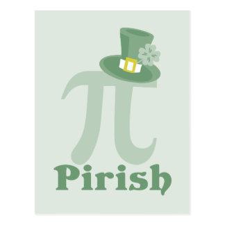 """""""Pi-rish"""" Postcard"""