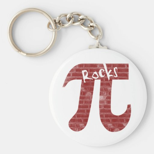 Pi Rocks Key Chain