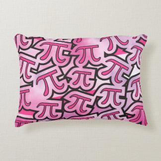 pi rosado - regalo del día del pi cojín decorativo