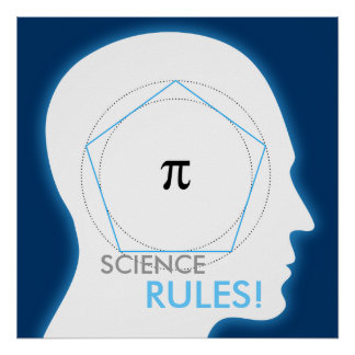 Pi - SCIENCE RULES! - math poster