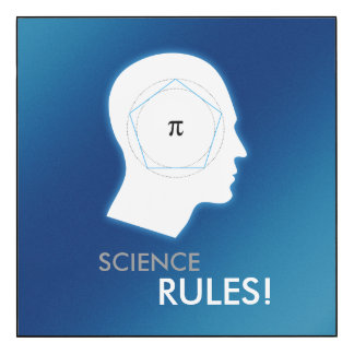 Pi - SCIENCE RULES   Nerd Gifts Wood Print