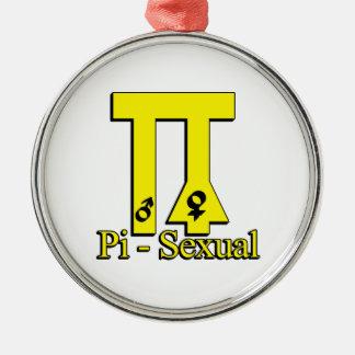 Pi-Sexual Funny Pi Metal Ornament