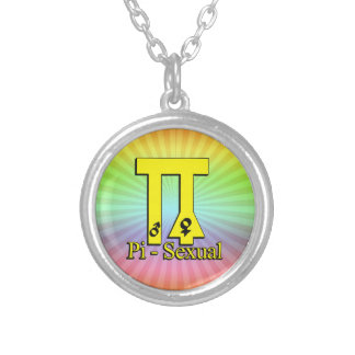 Pi-Sexual Funny Pi Round Pendant Necklace