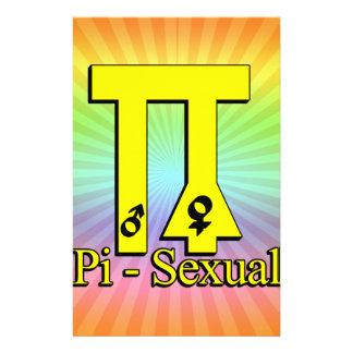 Pi-Sexual Funny Pi Stationery