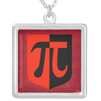 Pi Shield Silver Plated Necklace