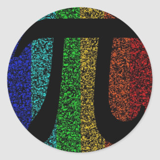 Pi Sign Black Classic Round Sticker