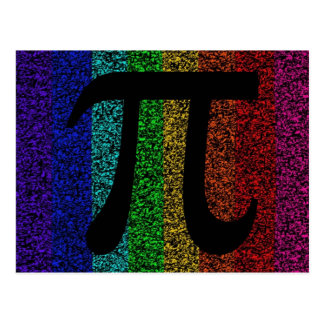 Pi Sign Black Postcard
