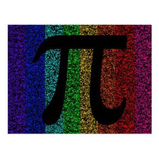 Pi Sign Black Postcard