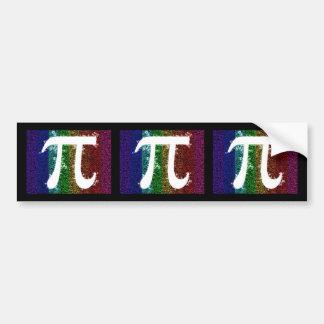 Pi Sign Electric Bumper Sticker