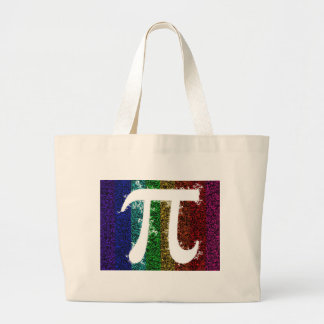 Pi Sign Electric Large Tote Bag